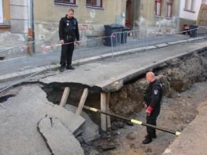 MP Děčín - poškození plynovodu