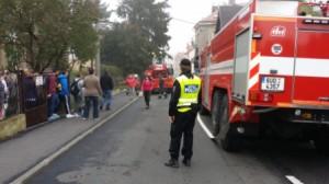 MP Děčín - Strážníci pomáhali při nácviku evakuace